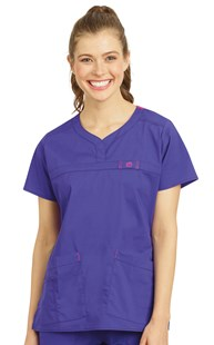 |  | WonderFLEX Curved Notch-Neck Scrub Top