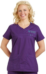 Scrubs-Premium-WonderFLEX |  | WonderFLEX Curved Notch-Neck Scrub Top