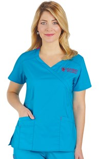 |  | WonderFLEX Fashion Y-Neck Scrub Top