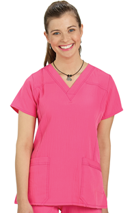 |  | WonderWink 4-Way Stretch Sporty Two Pocket Scrub Top