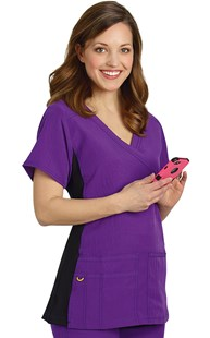 Scrubs-Premium-WonderWink-4-Way-Stretch |  | WonderWink 4-Way Stretch Sporty Mock Wrap Scrub Top