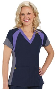 Scrubs-Premium-WonderWink-4-Way-Stretch |  | WonderWink 4-Way Stretch Color Block Scrub Top