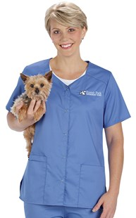 |  | WonderWORK Snap Front Scrub Top