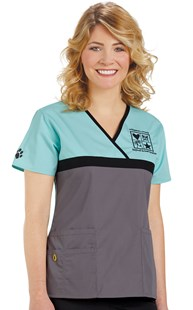 | WonderWink | Origins Tri-Color Crossover Scrub Top