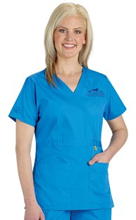 | WonderWink | Origins Mock Crossover Scrub Top