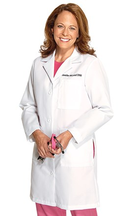 Women's Full Length Lab Coat Image