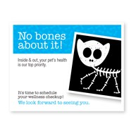 CustomLaserReminderCards4Up |  | 400 No Bones About It 4-Up Postcard