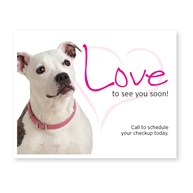 CustomLaserReminderCards4Up |  | 400 Love 4-Up Postcards
