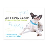 CustomLaserReminderCards4Up |  | 400 Ticks & Fleas 4-Up Postcard