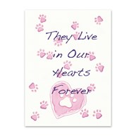 Rx-Supplies-Client-Communications-Sympathy-Cards |  | Sympathy Folding Cards Paw Hearts