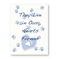 Rx-Supplies-Client-Communications-Sympathy-Cards |  | Sympathy Folding Cards Paw Hearts Blue