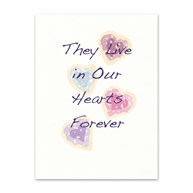 Rx-Supplies-Client-Communications-Sympathy-Cards |  | Sympathy Folding Cards Four Hearts