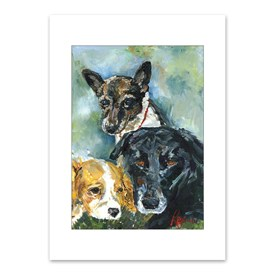 Premium Folding Note Cards Dogs Image
