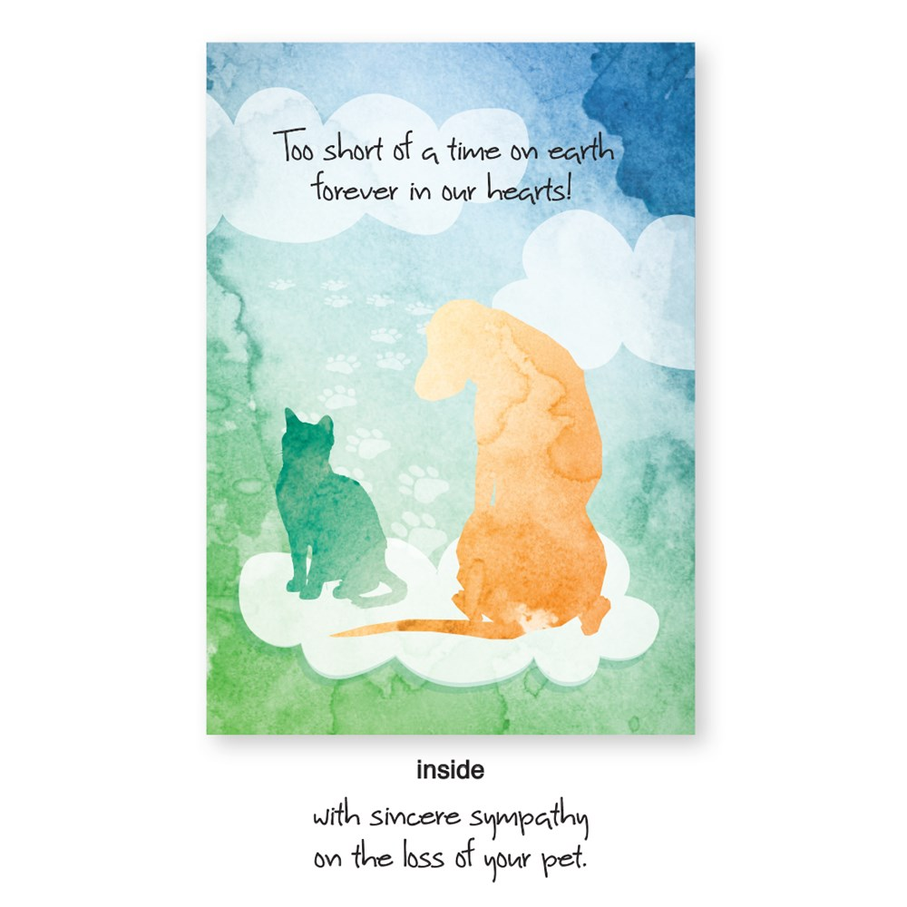 vac premium sympathy card dog cat 2 veterinary apparel
