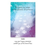 Rx-Supplies-Client-Communications-Sympathy-Cards |  | VAC PREMIUM Sympathy Cards Paw Trail