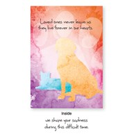 Rx-Supplies-Client-Communications-Sympathy-Cards |  | VAC PREMIUM Sympathy Card Dog & Cat