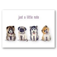 Rx-Supplies-Client-Communication-Notecards |  | Note Folding Cards - Just a Little Note Dogs