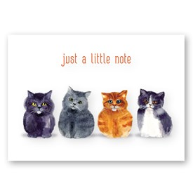 Note Folding Cards - Just a Little Note Cats Image
