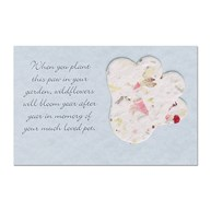 Rx-Supplies-Client-Communications-Sympathy-Cards |  | Blooming PAW Sympathy Inserts - Small Sky Blue