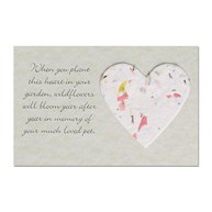 SympathyInserts |  | Blooming HEART Sympathy Insert - Small Sage