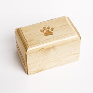 Clearance-RxSupplies |  | Pine Wood Urn w/ Engraved PAW