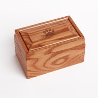 Clearance-RxSupplies |  | Oak Wood Urn w/ Engraved PAW