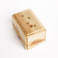 Clearance-RxSupplies |  | Pine Wood Urn w/ Engraved PAW TRACKS