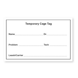 Temporary Cage Cards Image