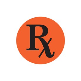 RX Round Adhesive Label Image