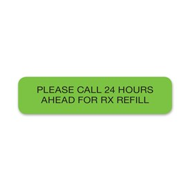 please call 24 hours ahead for rx refill veterinary apparel