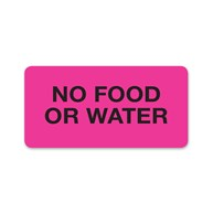 MedicalRecordStickers |  | No Food or Water