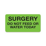 MedicalRecordStickers      Surgery Do Not Feed or Water Today