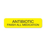 MedicationStickers |  | Antibiotic-Finish All Medication