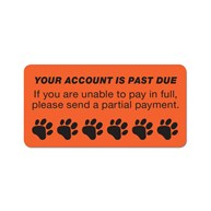 InvoiceStickers |  | YOUR ACCOUNT IS PAST DUE (With Paws)