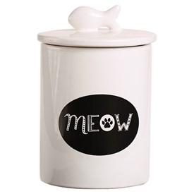 Ceramic MEOW Treat Jar Image