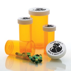 Child-Resistant Cap Prescription Vials 16 Dram Image